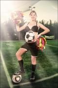 Monique Marcel Babybauch Kinderbilder Baby Schwangerschaft Fotos aussergewöhnliche Fussball EM Eupropameisterschaft