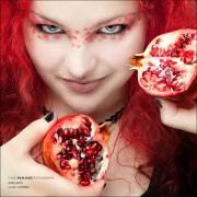 Lyanna Früchte Shooting Melone Limette Granatapfel Kiwi Ringlicht Ringblitz Portrait I Love Fruits Fun