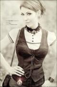 Marie Steampunk Urbex Urban Exploration Sommerlich Vintage Portrait miss m0rphine morphine alte Taschenuhr Teich Schnee Surreal