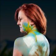 Claudia Minishoot Minishooting Bodypaint Low Key Christine Kunkel Make-Up Nature Rücken Bodypainting