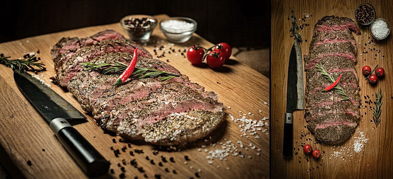 Flank Steak, Rarität, Medium, Aschaffenburg, Burger, Dessert, Essen, Filetsteak, Flanksteak, Food, Food Fotografie, Food-Fotografie-Studio, Foodbilder, Foodfotografie, Fotografie, Harald Peter Fotografie, On Location, Rhein-Main-Gebiet, Rumpsteak, Steak, Steaks, Teufels Küche, Teufelsküche, Werbefotografie, Werbung (7)