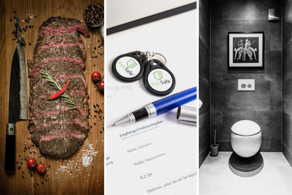 Foodfotografie Produktfotografie Make Up Steak Burger PakSafe Hotelfotografie Toilette Werbefotografie