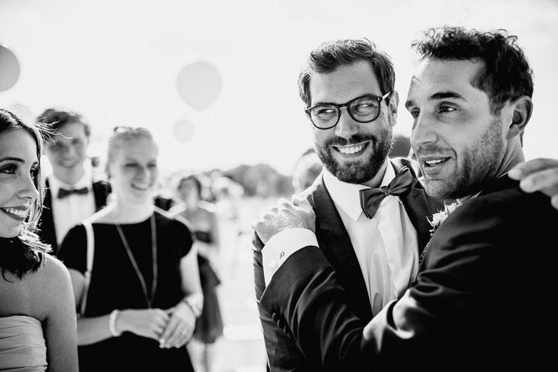 Männer Glückwünsche Luftballons Frauen Stimmung Freude Familie Freunde