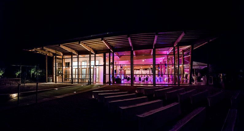 Location außen dunkel Lichter Nacht schön Gebäude Feier Hochzeit