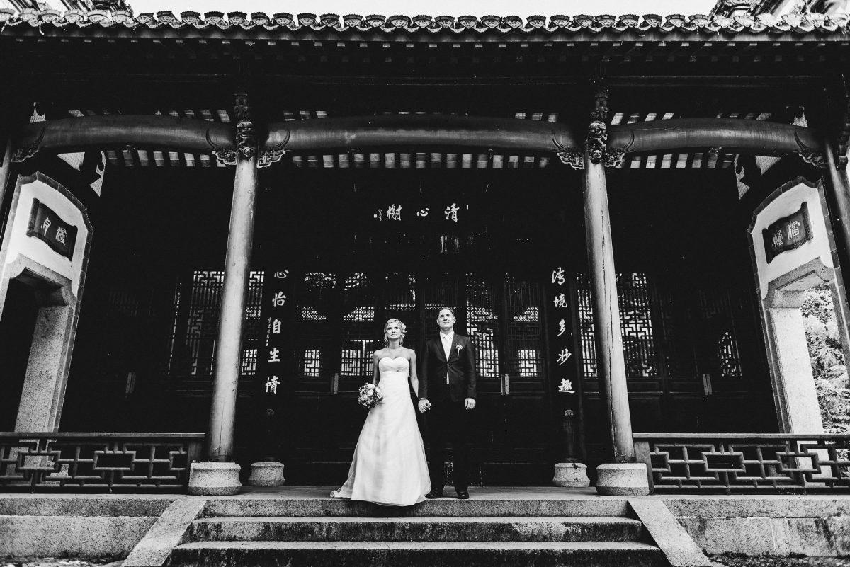 Chinesischer Garten Frankfurt After Wedding Shooting Paar Kleid Anzug
