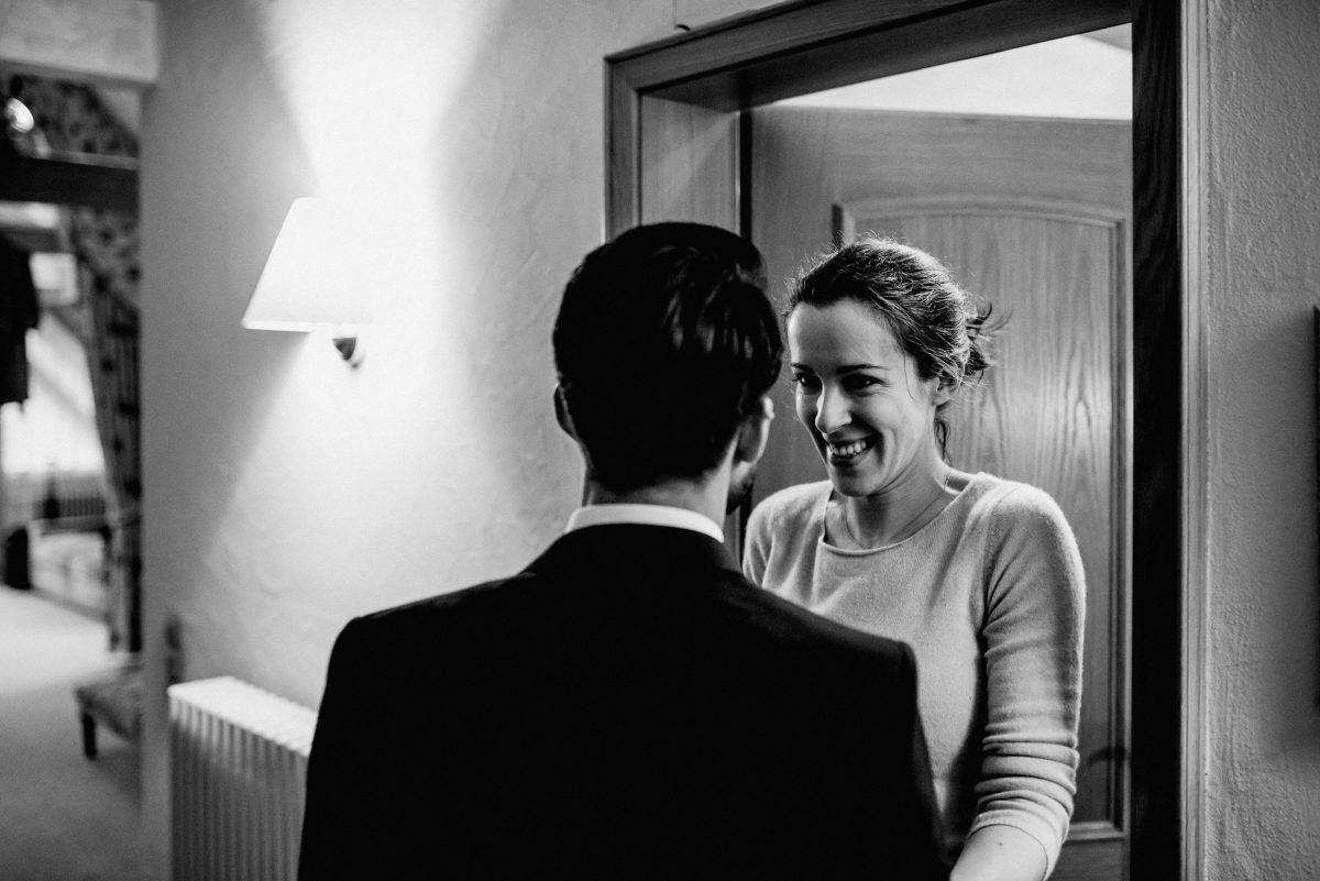 Hotel Braut Bräutigam Anzug Pullover Lampe Licht Hochzeit Fitting Vorfreude