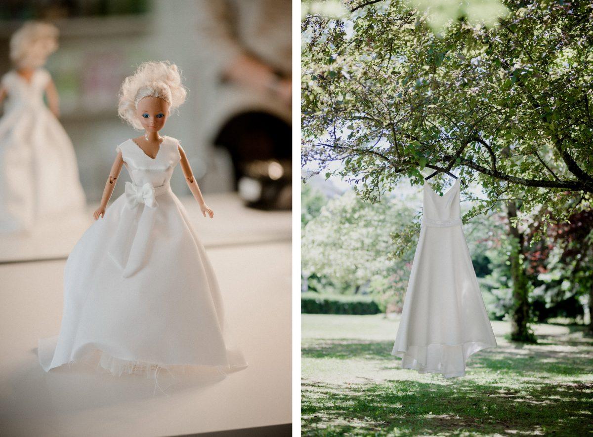 Barbie Wedding Spring Dress white Pretty Tree Warm Blond