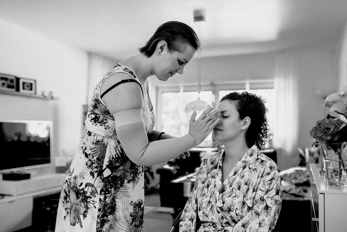 Makeup Visagistin Wedding Ready Flowers Women Beautiful
