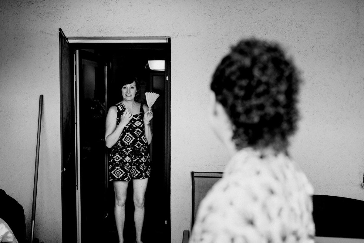 Summer Jumpsuit Women Home Gespräch Fächer Muster