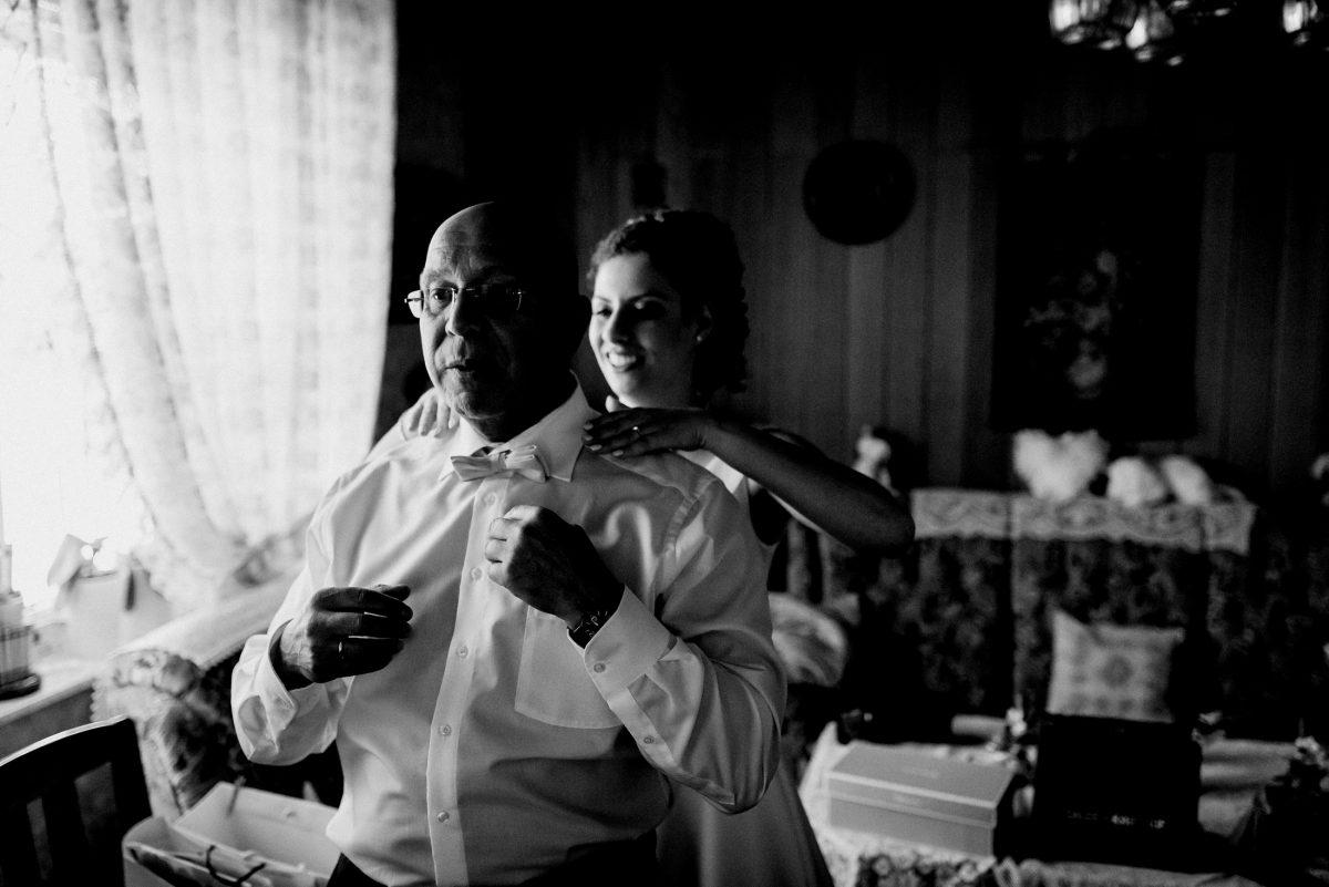 Hemd Father Fliege Brille Glasses Bride Together schwarz /weiß