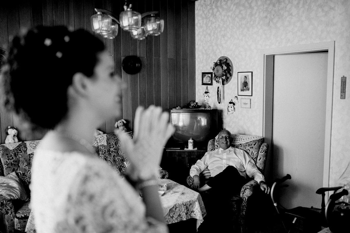 Braut Handschuhe Hairstyle Vater Freude Schmuck Hochzeit Wohnzimmer