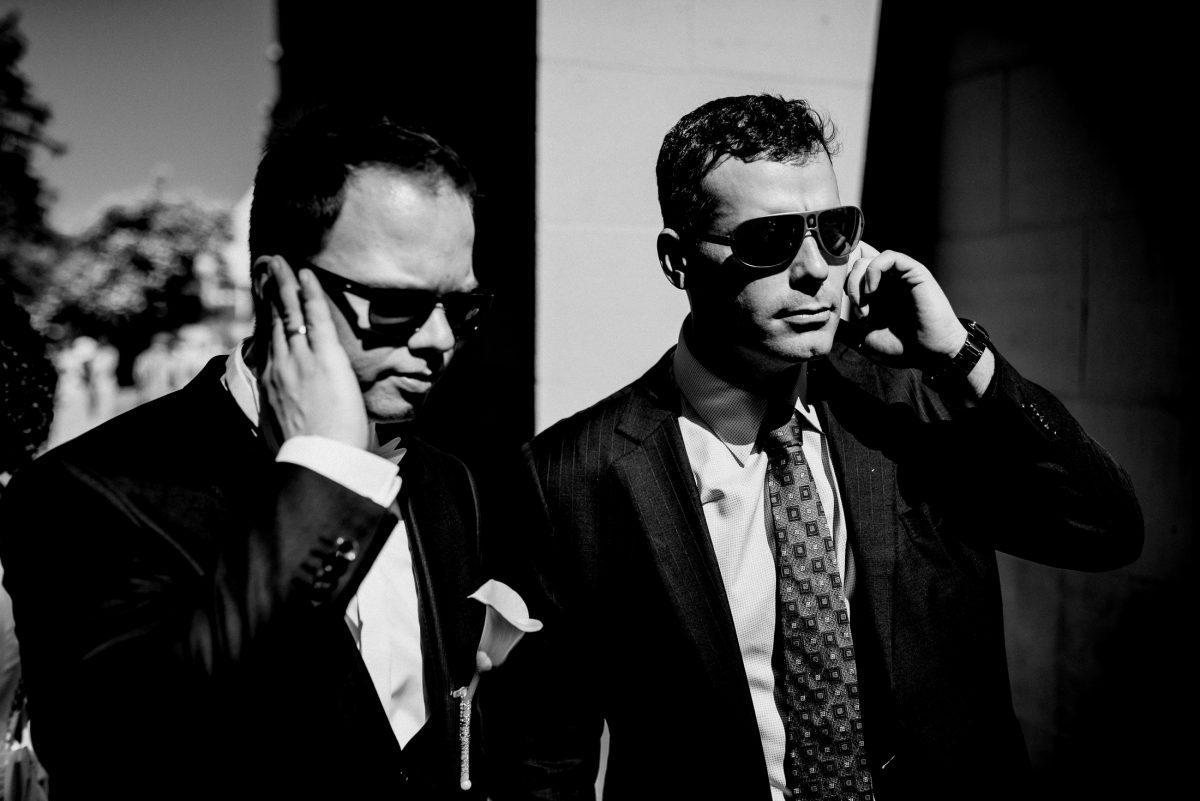 Männer Business Sonnenbrillen Cool Man in black Bodyguard Joke