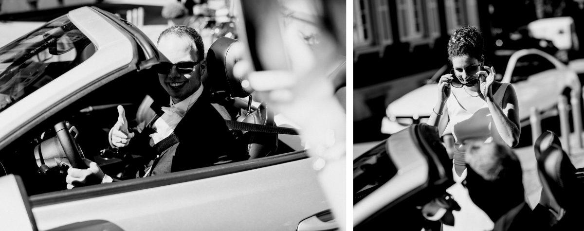Cool Fun Car Husband&Wife Cabrio Sommer Heiß Hochzeit Paar