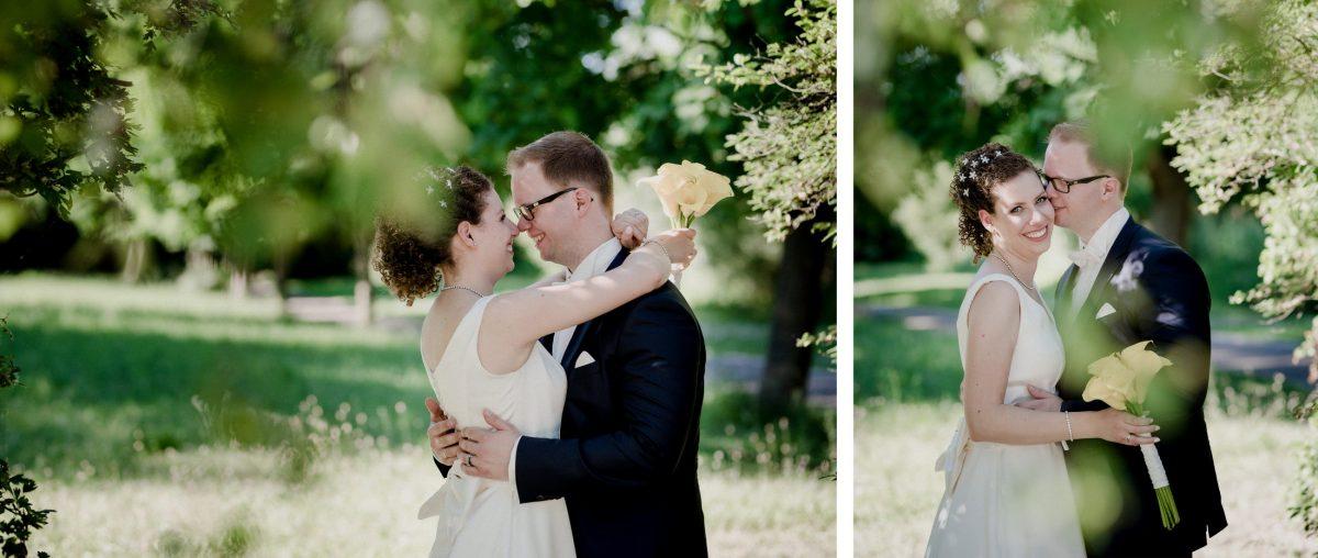 Shooting Liebe Ehepartner gelb Blumen Natur Kuss Freude Hochzeit