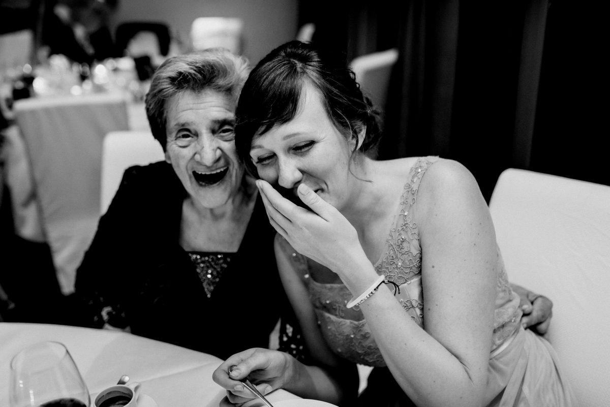 Lachen Spaß Oma Glitzer Hübsch Freude Joke Kleid Frauen Jung Harmonie