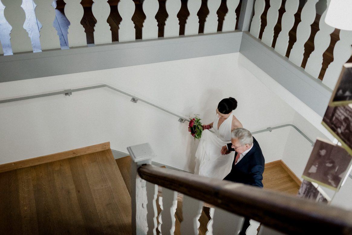 Father and Daughter rührend Brautkleid Anzug Alzenau