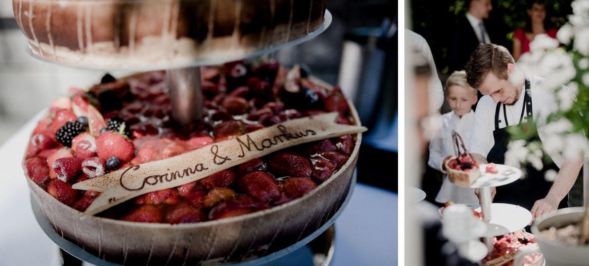 Torte Beeren Obst Lecker Yummy Paar süß fruchtig Junge Konditor