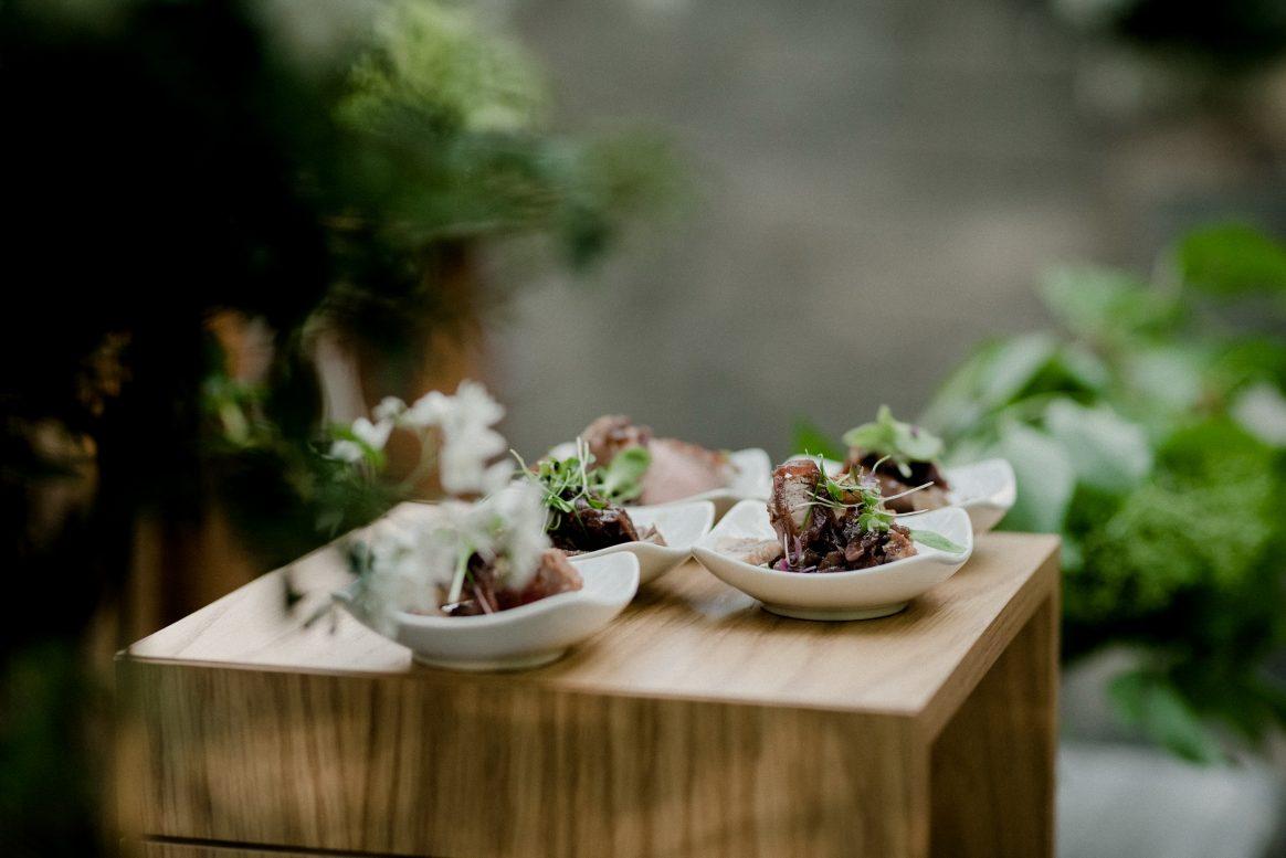 Essen Leckere Fleisch Salat Yummy Natur Hochzeit Menü Gericht