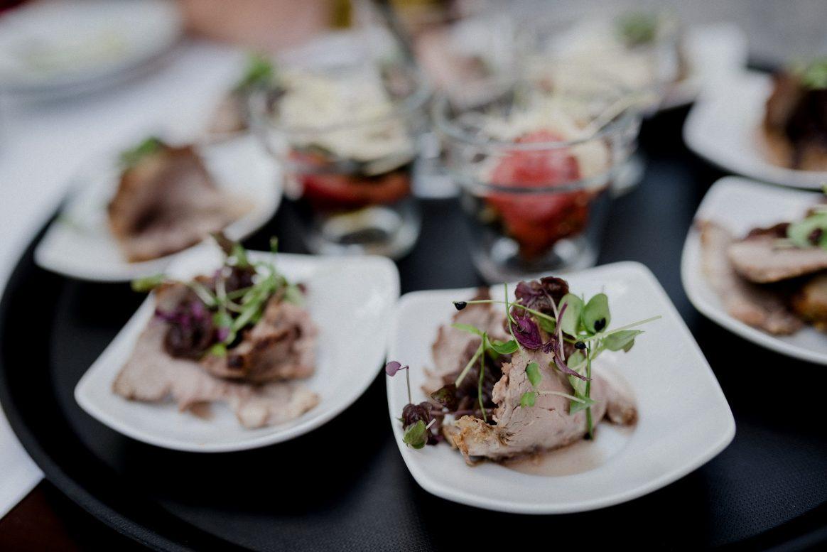 Fleisch Salat Beilage Menü Essen Gäste Hochzeit lecker