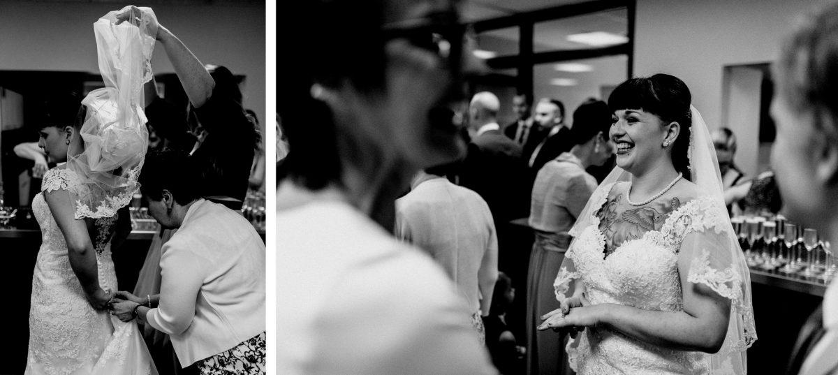 Braut Schleier Brautkleid Spaß Rede Gäste Feier Frauen Männer Sektflaschen