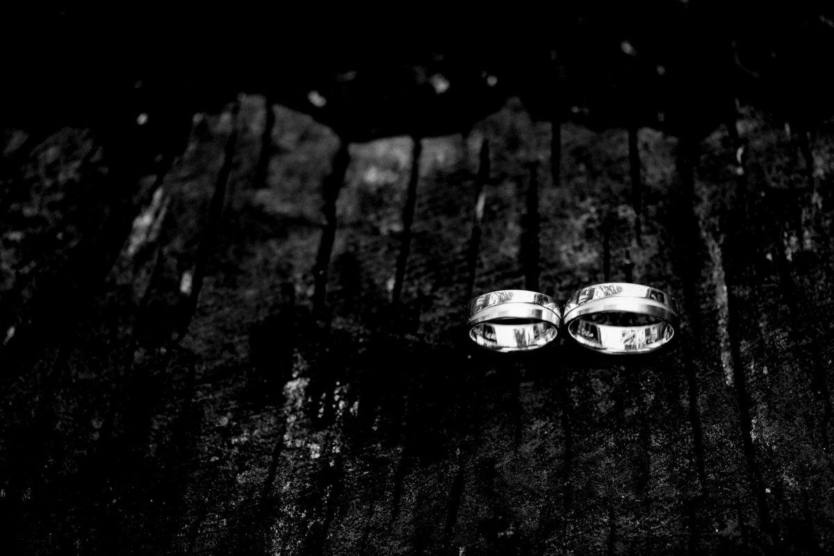 Ringe silber Mann&Frau Holz Verbundenheit Liebe Hochzeit