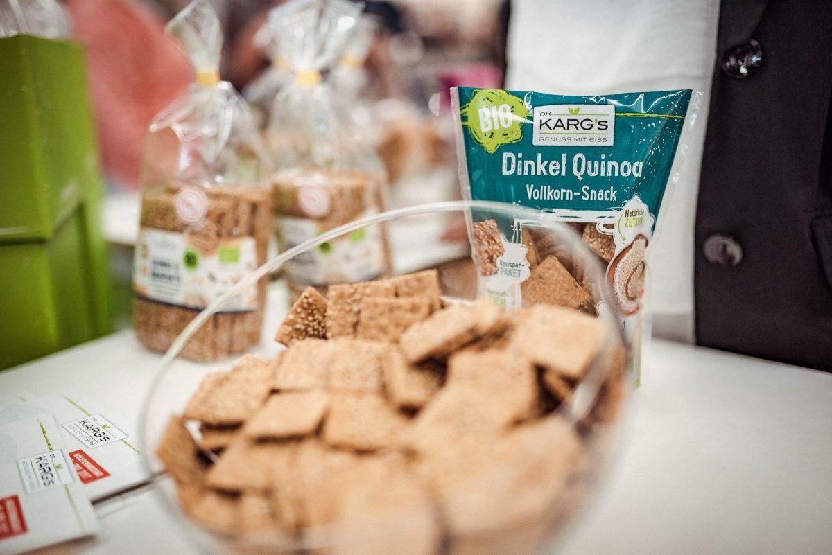 Dr Kargs Dinkel Quinoa Vollkorn Snack Biofach Nürnberg Messe Bioprodukte Nachtisch Snack