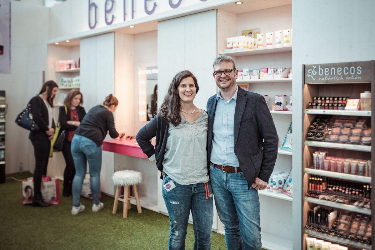 Benecos Vorstand Inhaber Stand Vivaness Naturkosmetik Sulzbach am Main Bayern Unterfranken