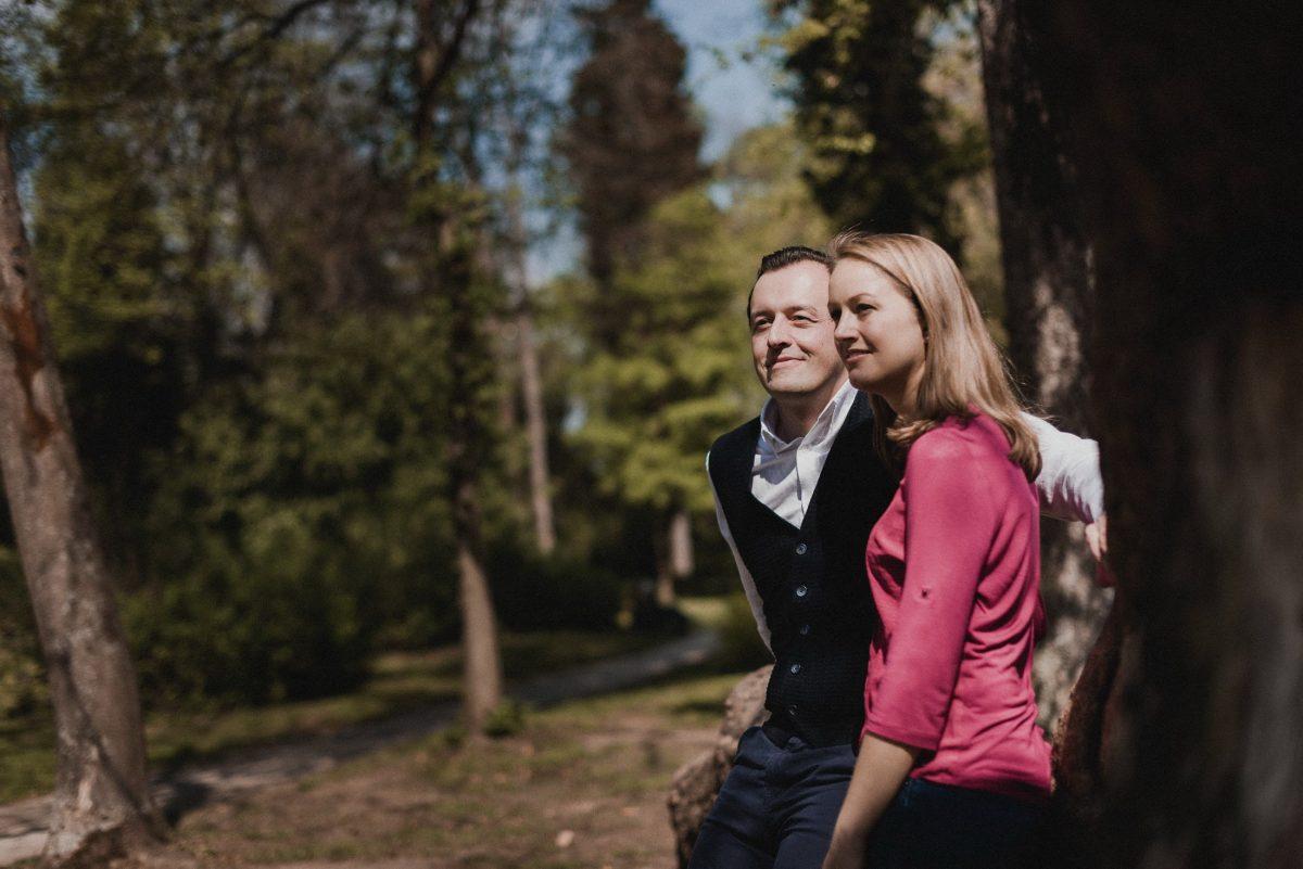 Bilder Park Frankfurt Rhein-Main Gebiet Blick Zukunft Zufriedenheit Heiraten Verlobung