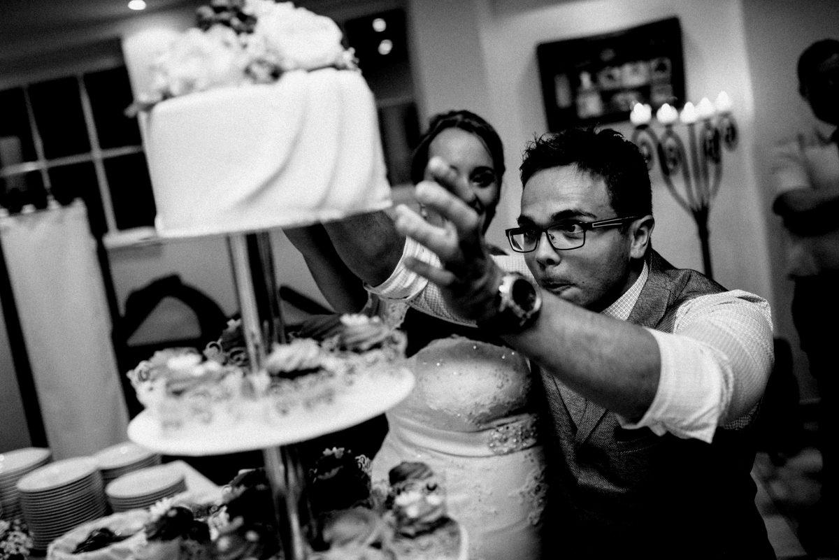 Ehegatten Hochzeitstorte Dessert Nachspeise