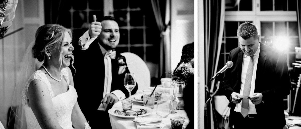 Hochzeitsrede daumen hoch lachen gegenblitz mikrofon