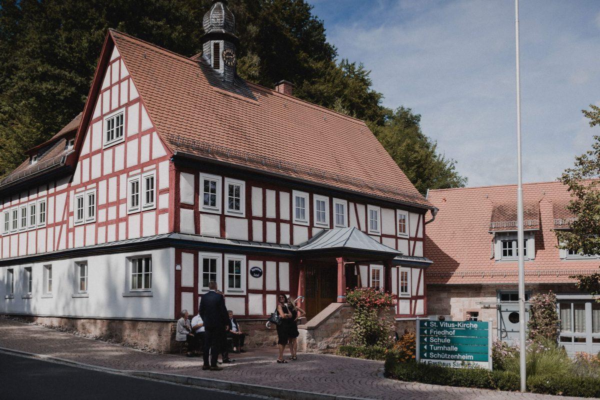 Fachwerkhaus,Gäste, Wald