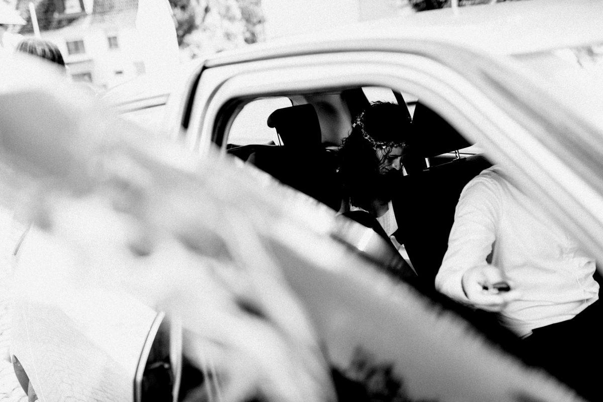 Braut ankunft Auto