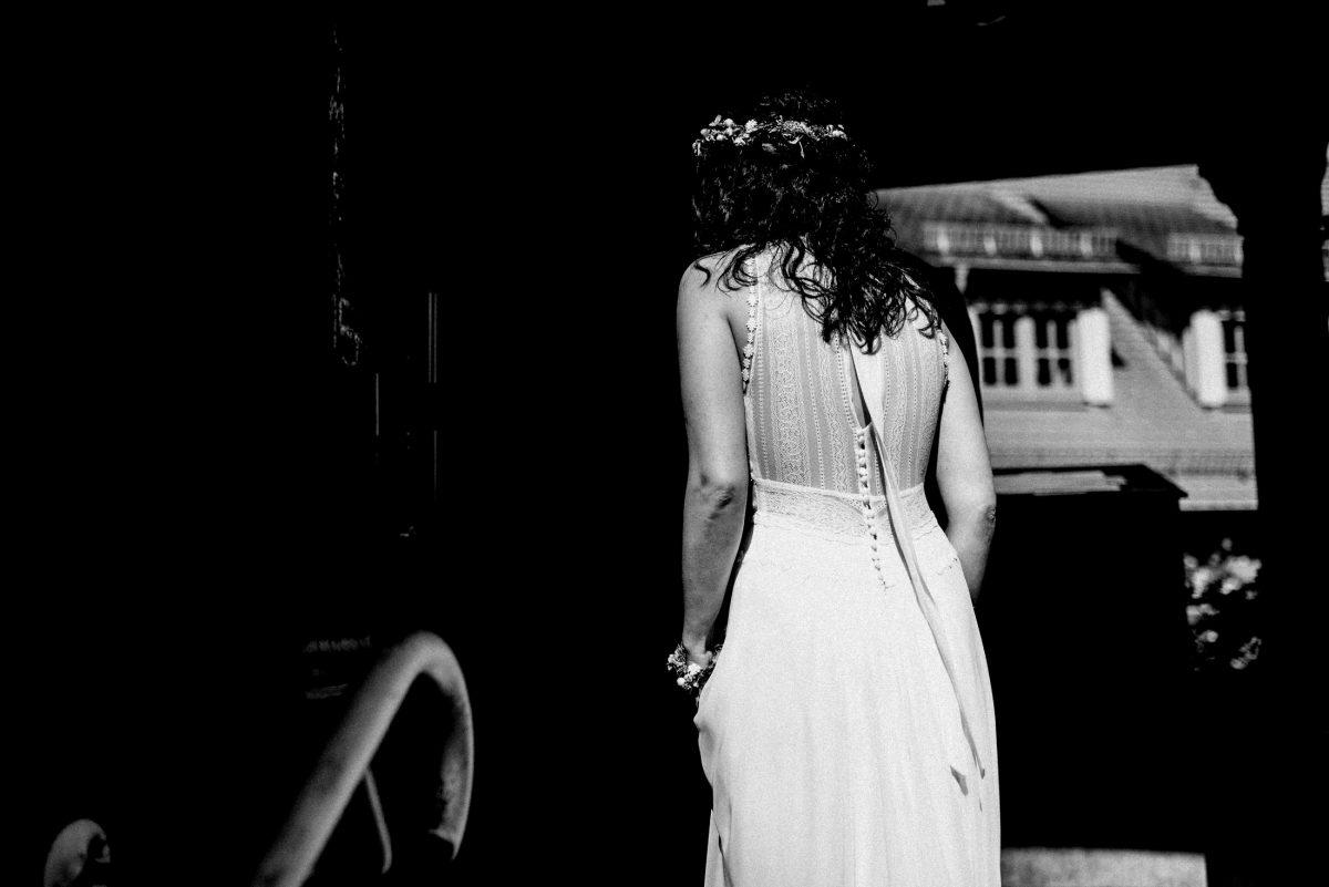 Rücken Hochzeitskleid Locken