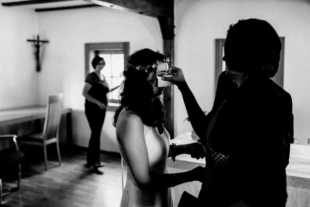 Tränen Taschentuch freude Braut
