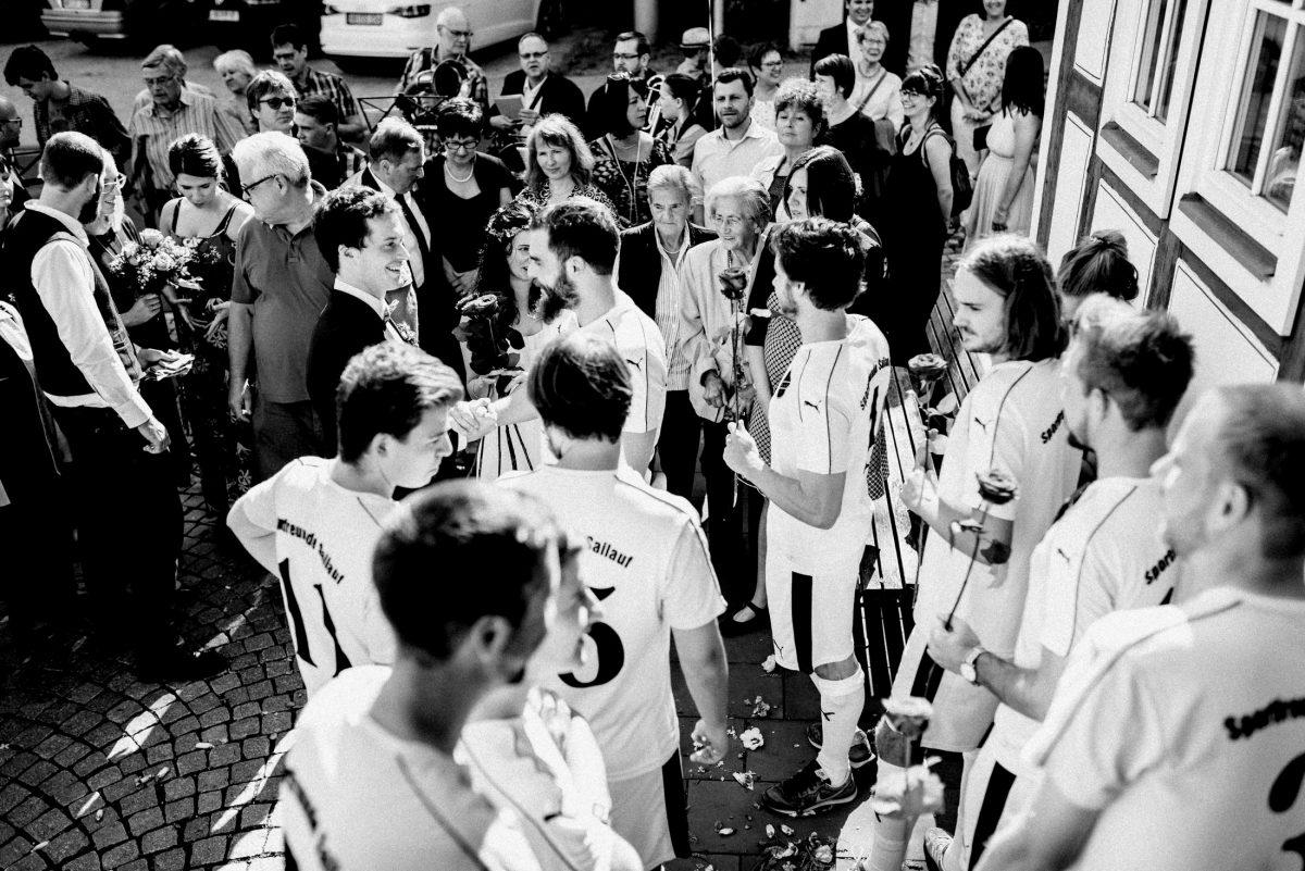 Fußballverein Sailauf gratulation Spalier