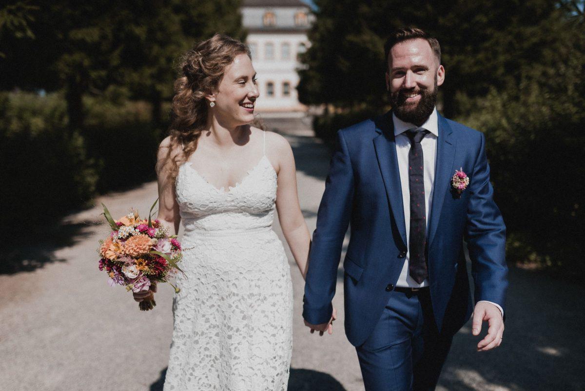laufen gemeinsam Weddingshooting