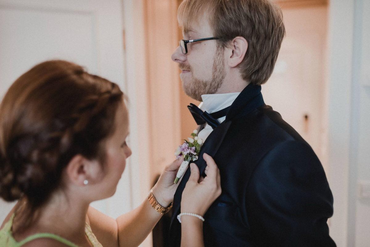 Bräutigam Hochzeitsvorbereitung,ansteckblume,Sakko