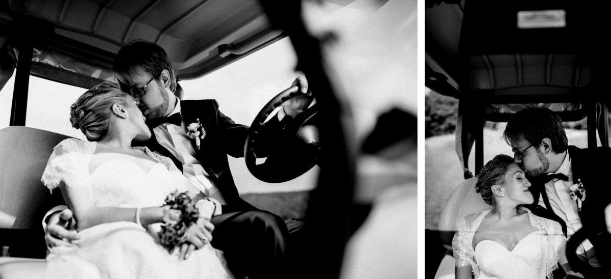 Golfwagen,zweisamkeit,innig,Couple,Kuss,verliebt