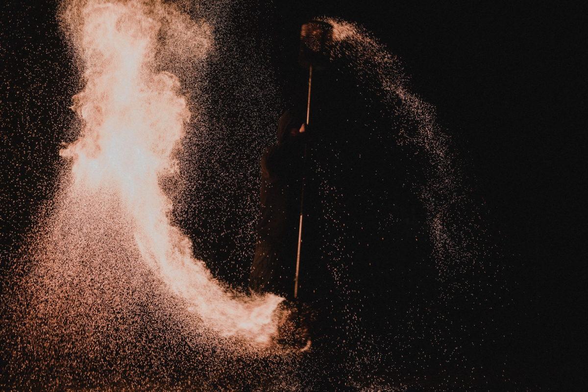Feuershow,drehen,Flamme,Show