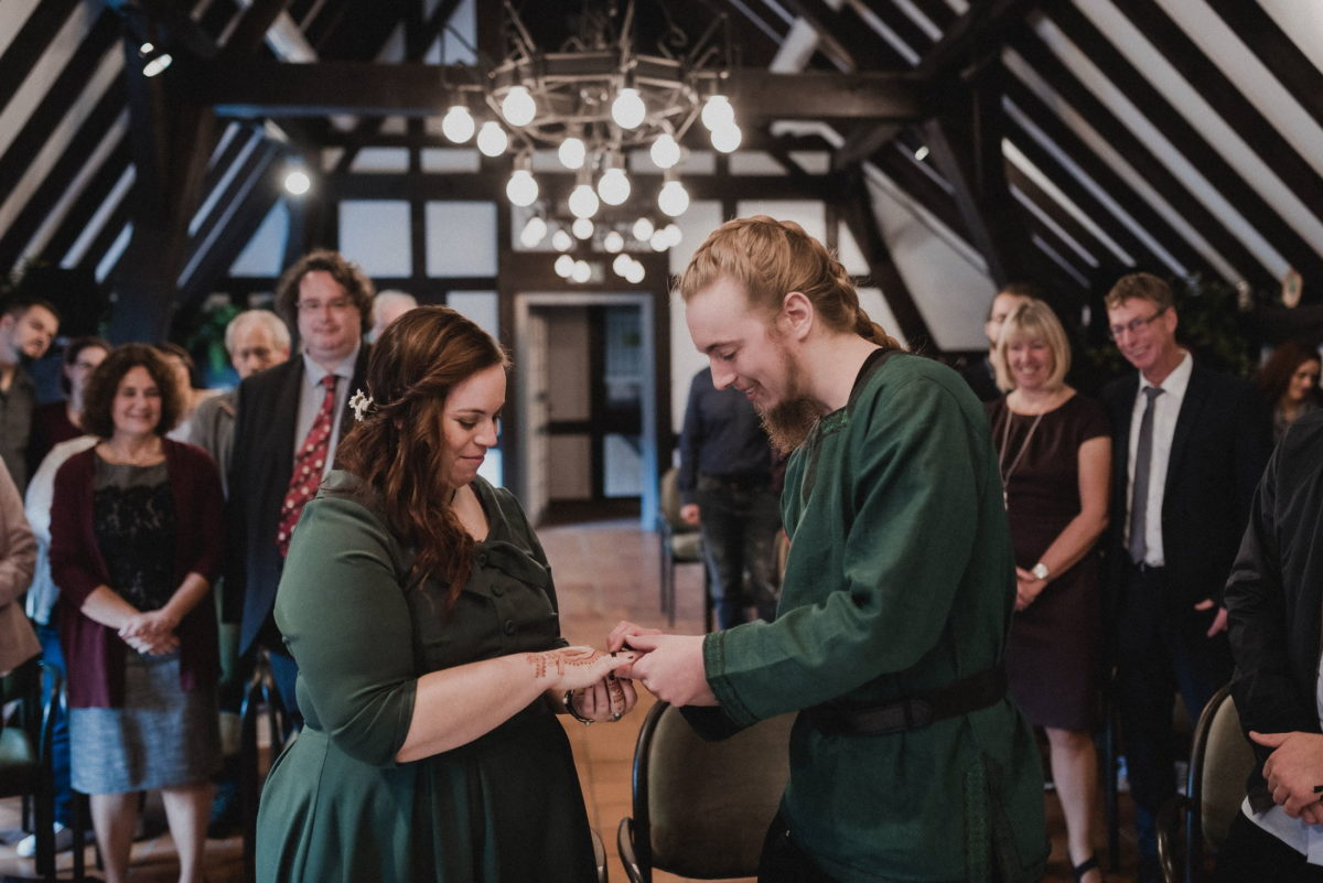 Ringaustausch,Trauung,Hochzeit,mittelalter Style