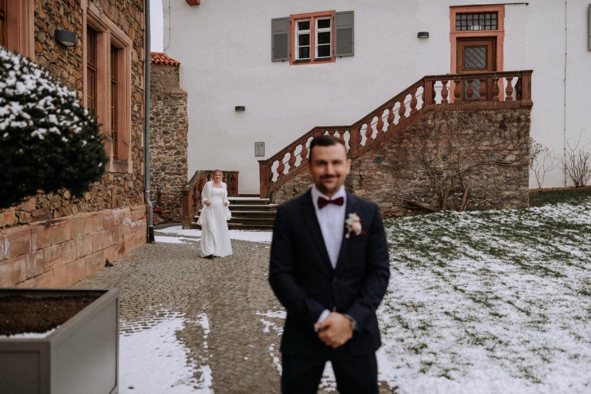 Burg Alzenau,Schnee,First Look,Wedding