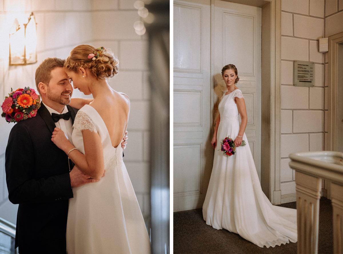 Hochzeitsshooting,Bilder,Steinmauer,umarmung,geschlossene Augen