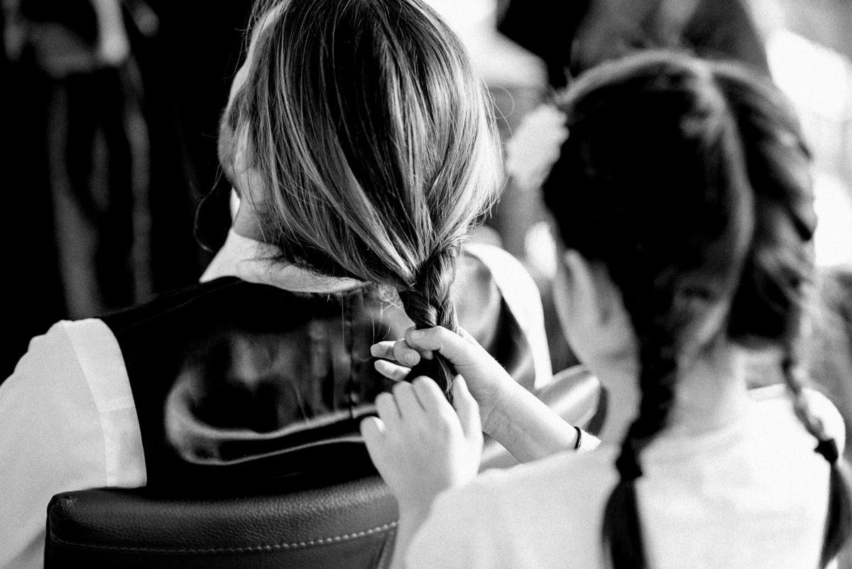 Haare flechten,Zopf,Kind, geflochtene Zöpfe,
