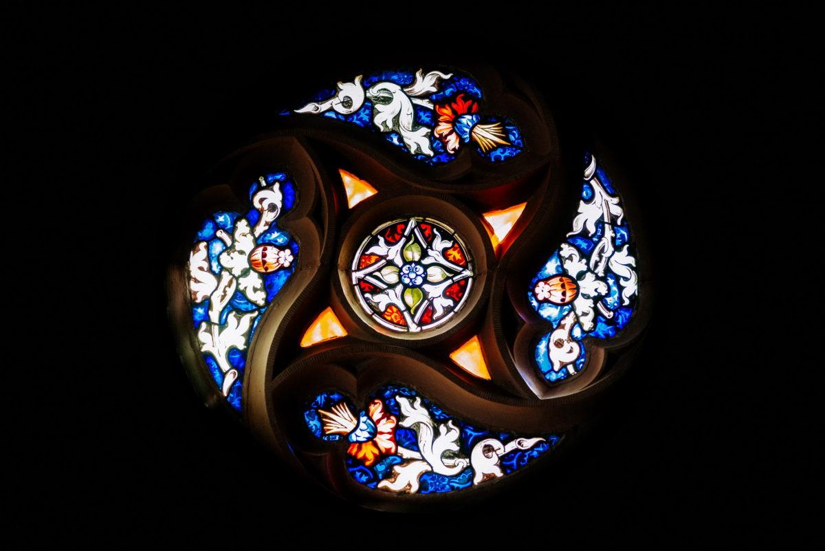 Kirchenfenster,buntes Glas,Kreis,