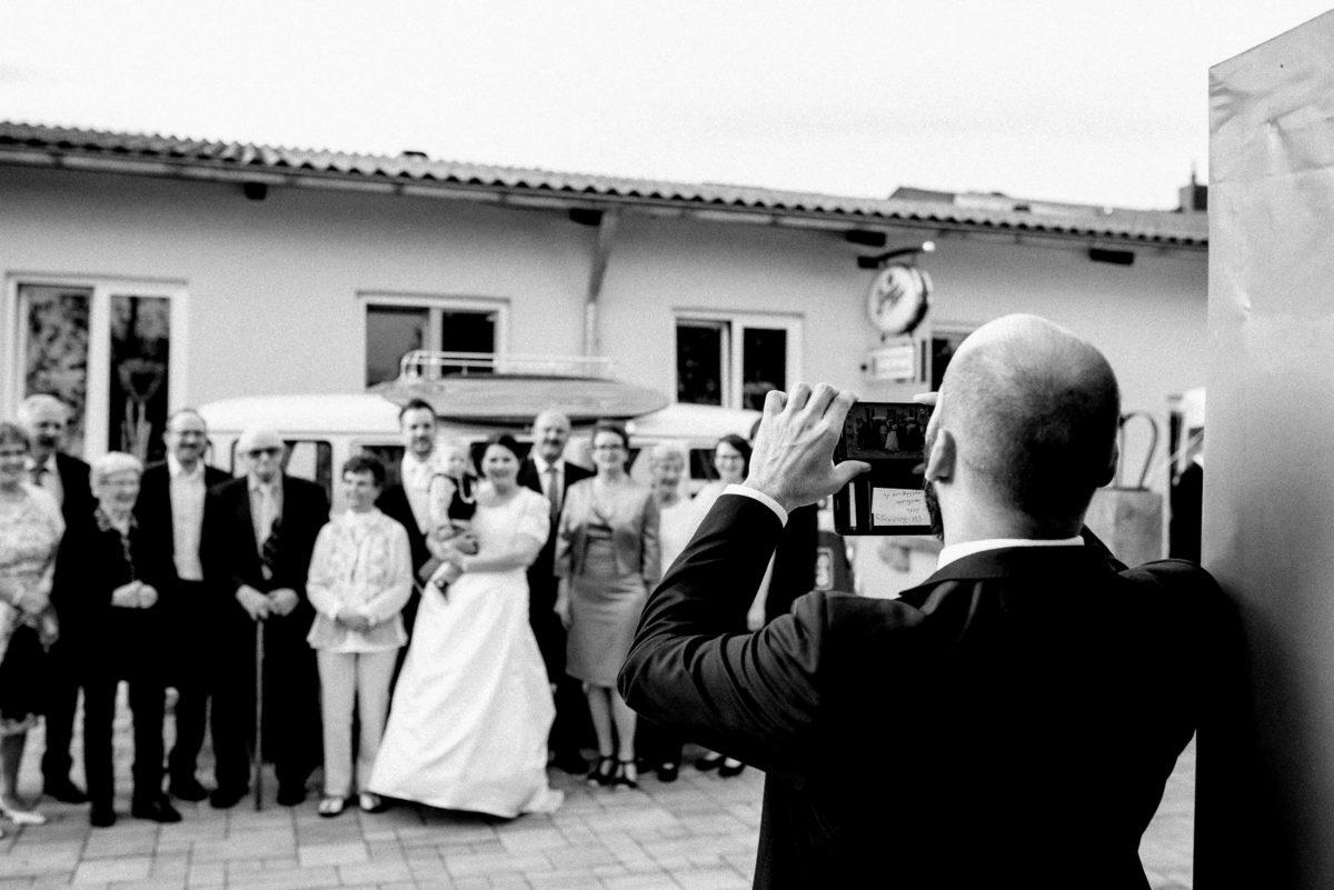 Familienfoto,Handybild,VW Bulli,Jakobshof