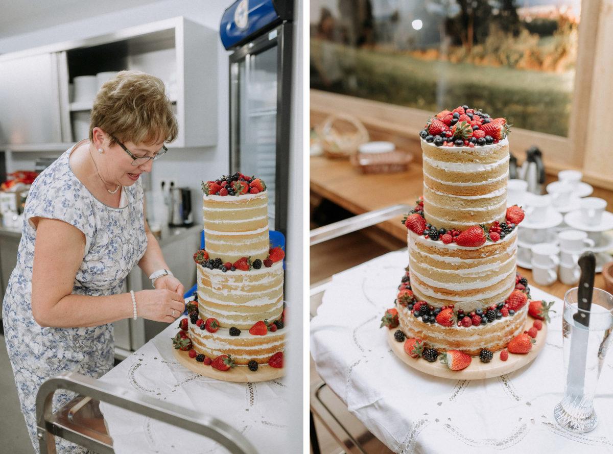 Hochzeitstorte,Früchte,dreistöckig