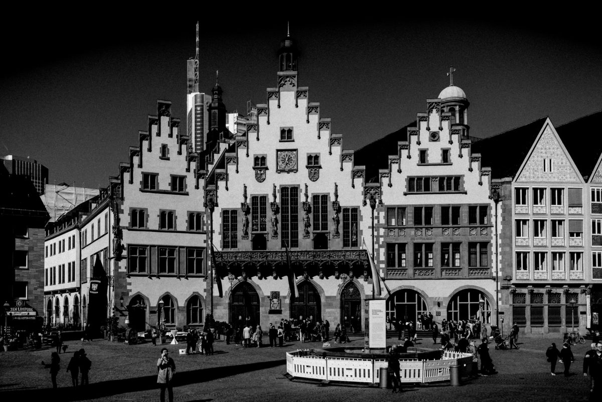 Römerberg,Frankfurt,Rathaus,Skyline