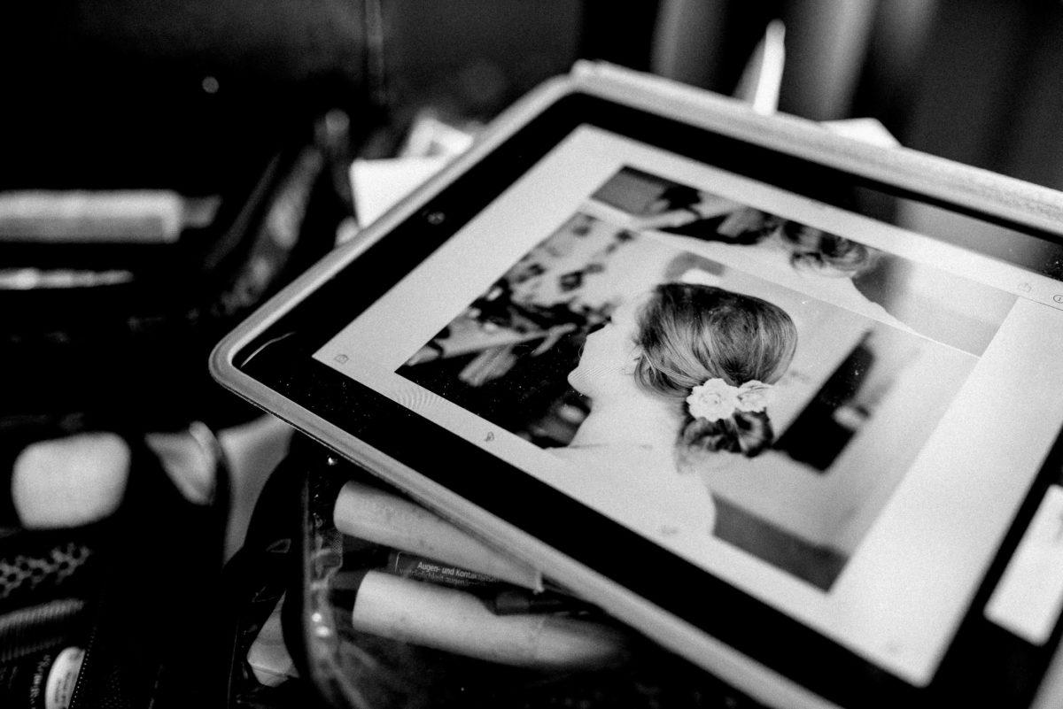 Tablet,Hochzeitsfrisur,Muster,Bild,Braut,