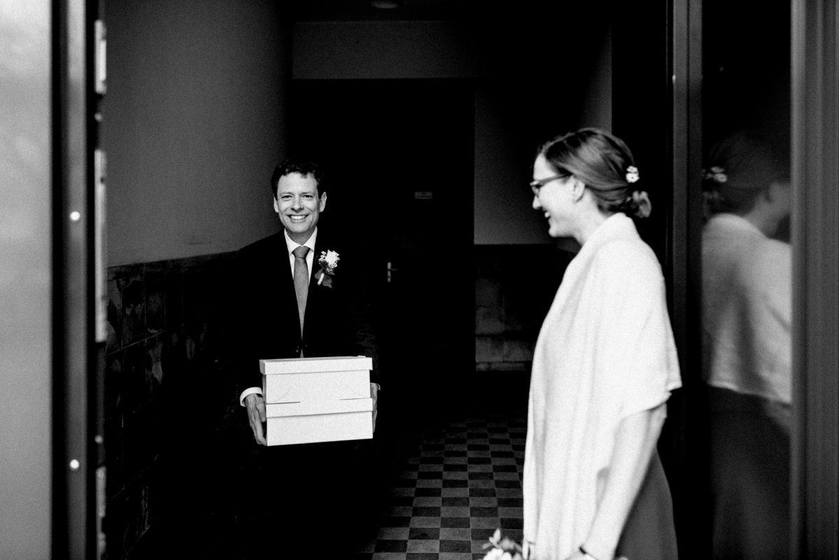 Brautpaar,stola,Kisten,Treppenhaus,Ausgang