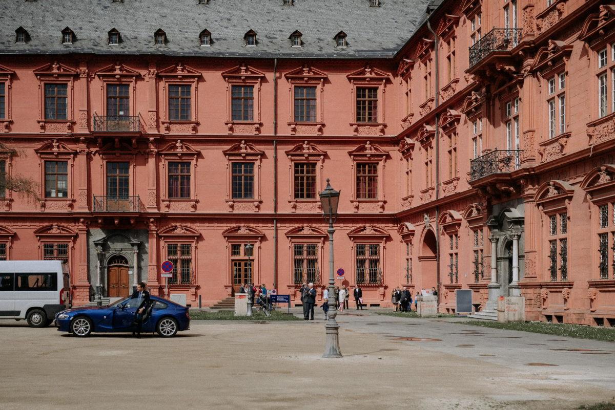 Kurfürstlichen Schloss Mainz,Standesamt,Balkon,Autos